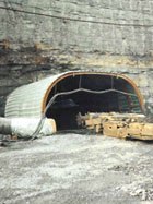 mine entry tunnel