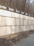 reinforced retaining wall block